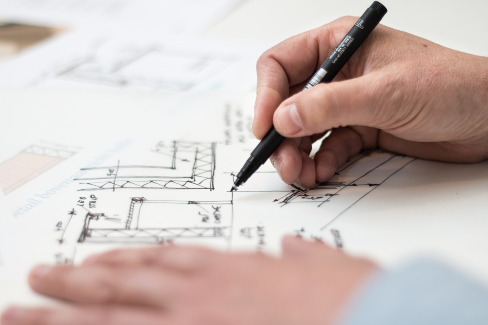 image showing a architectural drawing